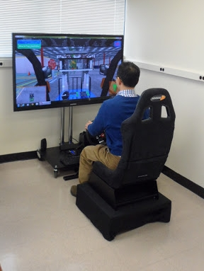 User training on our desktop simulator.