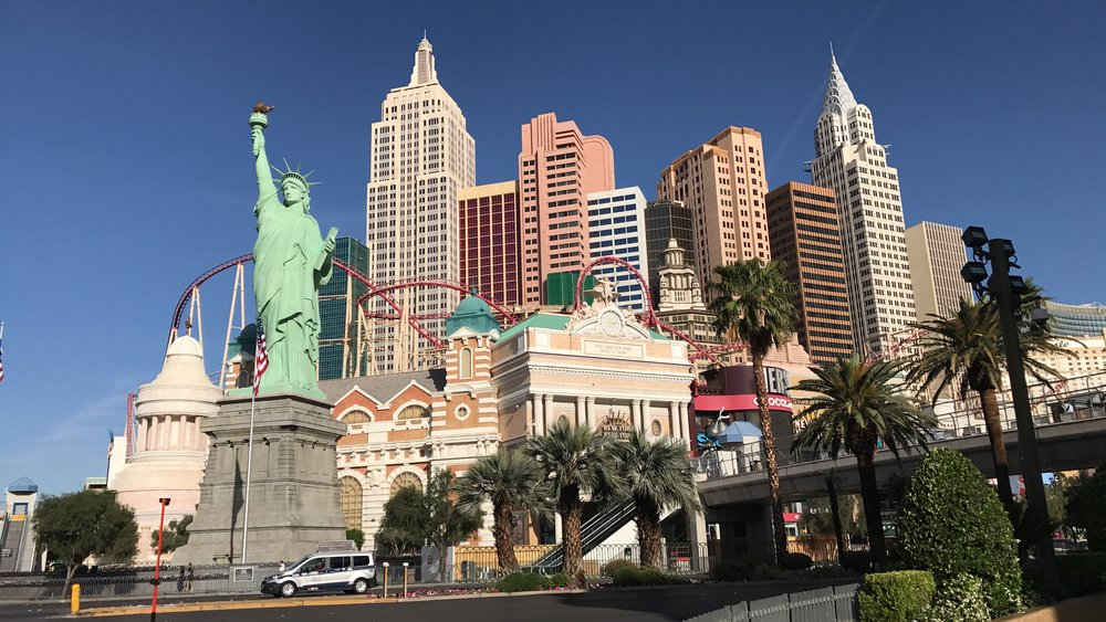 «New York-New York Hotel & Casino»: Seblst die Freiheitsstatue fühlt sich wohl in Las Vegas.