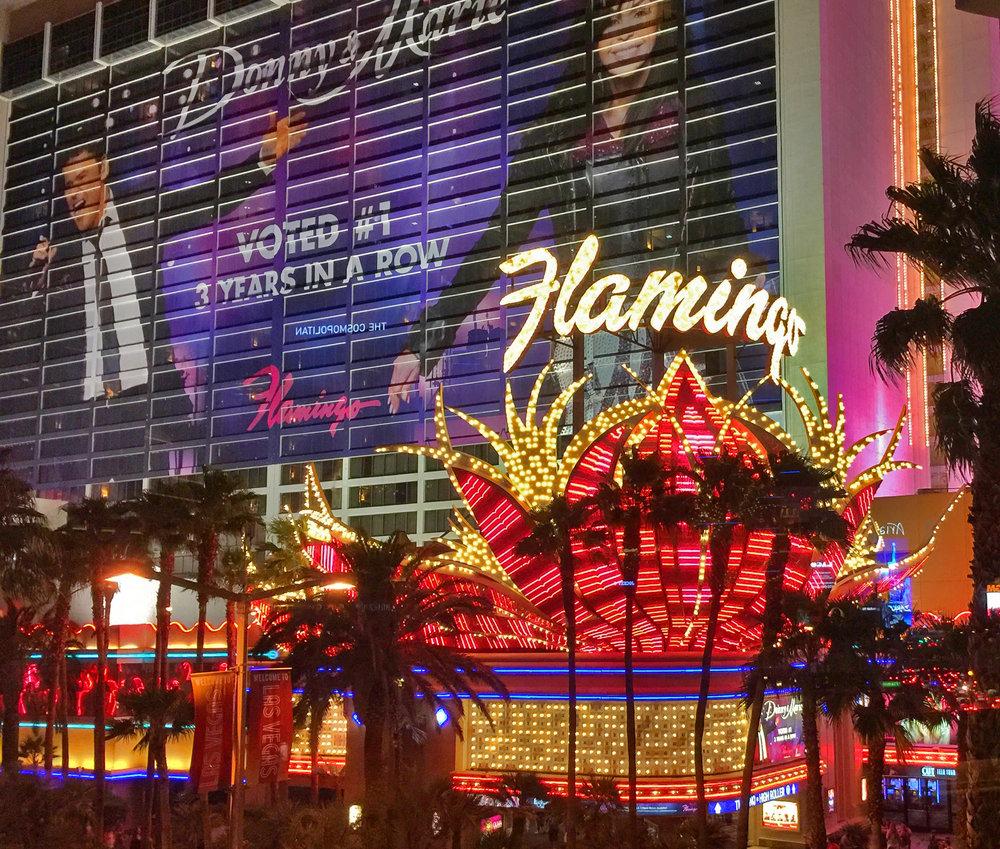 Flamingo - Eröffnet: 1946Casino-Grösse: 6'715m²Resort-Fee: 35 US-DollarZimmeranzahl: 3'545 Zimmer, 215 SuitenHistorie pur! Zwar wurde der letzte Teil des 1946 erbauten Hotels 1993 zerstört (das aktuelle Hotel datiert von 1967 und später), dennoch, dieses Hotel gehört zu jedem Las-Vegas-Strip-Casino-Hopping dazu. 1'280 Zimmer wurden 2017 für 90 Millionen US-Dollar renoviert (also im Idealfall nach diesen Zimmern fragen, denn die anderen Zimmer sind wirklich in die Jahre gekommen). Zudem: Man muss bei dem maroden Lift-System sehr lange Wartezeiten einberechnen. Bizarr: Gangster Bugsy Siegel gehörte zu den Chefs 1946. Doch stetig wachsende Schulden, Morde von Mitarbeitern sorgten dafür, dass Bugsy Siegel im Juni 1947 in seinem Haus erschossen wurde.