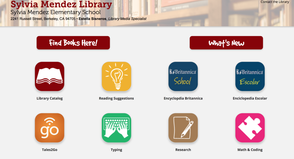 Link to the Sylvia Mendez library online