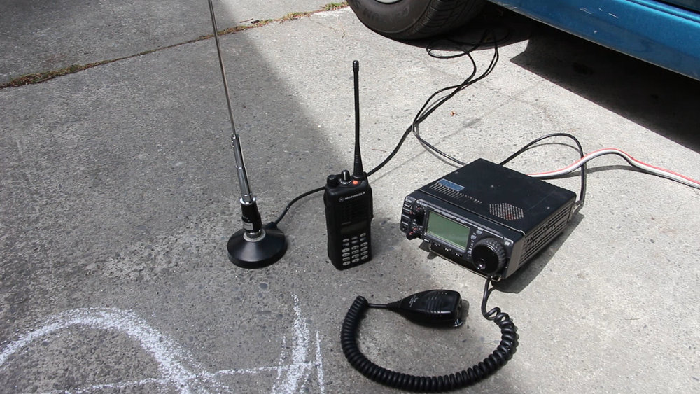 Icom 706 and Handheld Radios