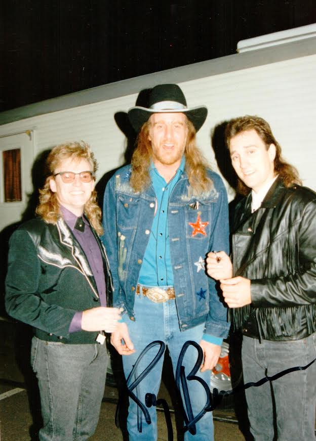 (L-R) Terry with Ray Benson from Asleep at the Wheel, Ray Herndon from McBride and the Ride