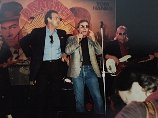 (L-R) Dan Aykroyd, Delbert McClinton and Terry McBride at the MTV World Premiere Party for the movie Dragnet featuring Tom Hanks