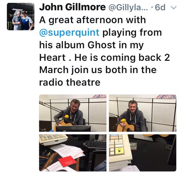 Great session with John Gilmore at BBC RADIO LANCS