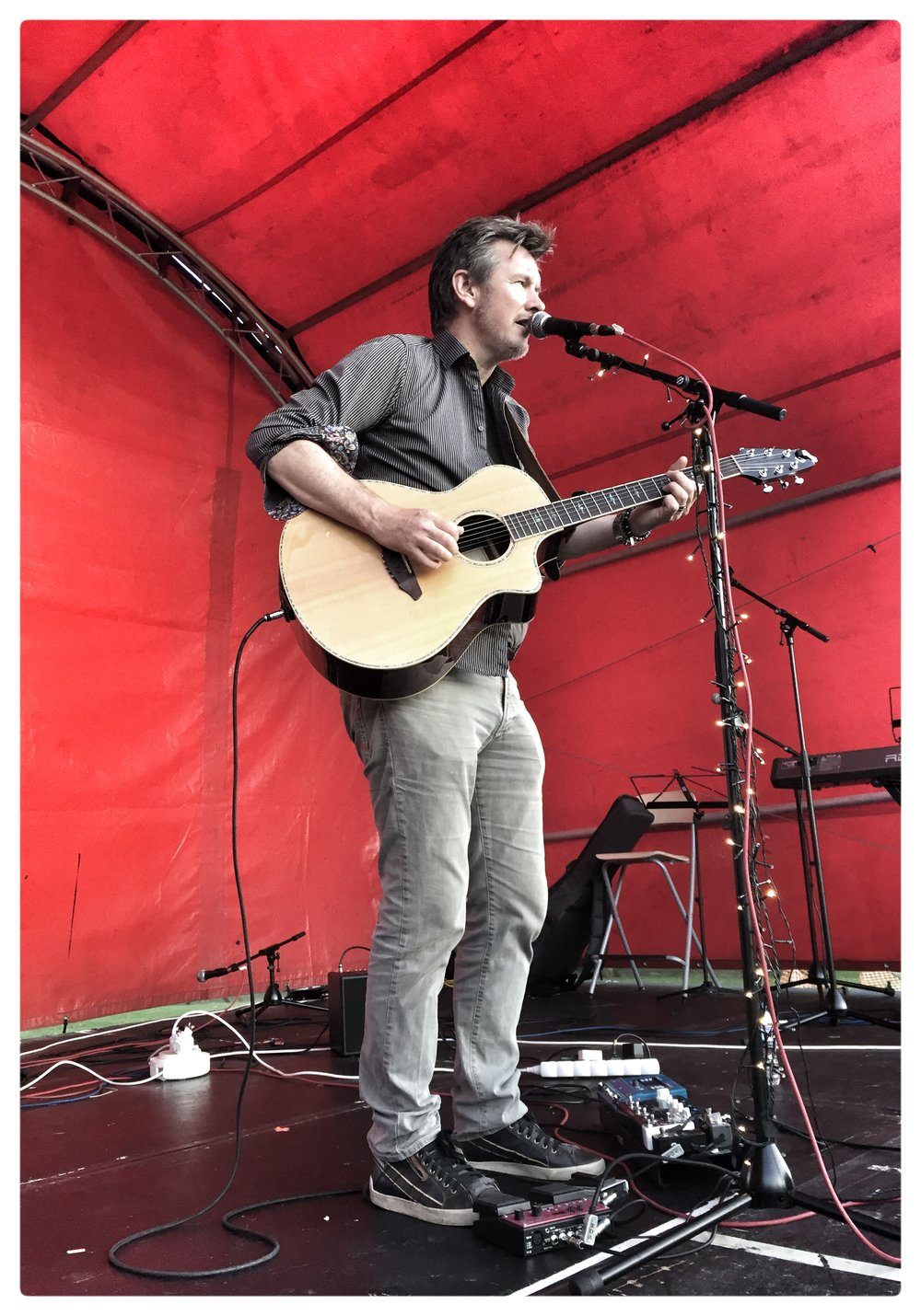 On Stage at The ffennell Festival