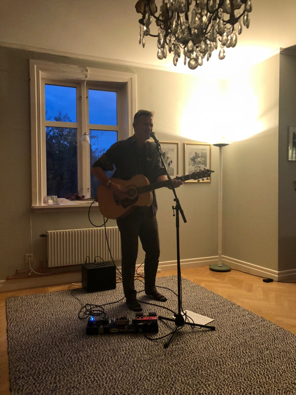 House concert in Alvesta at the wonderful home of Daniel and Pernilla.