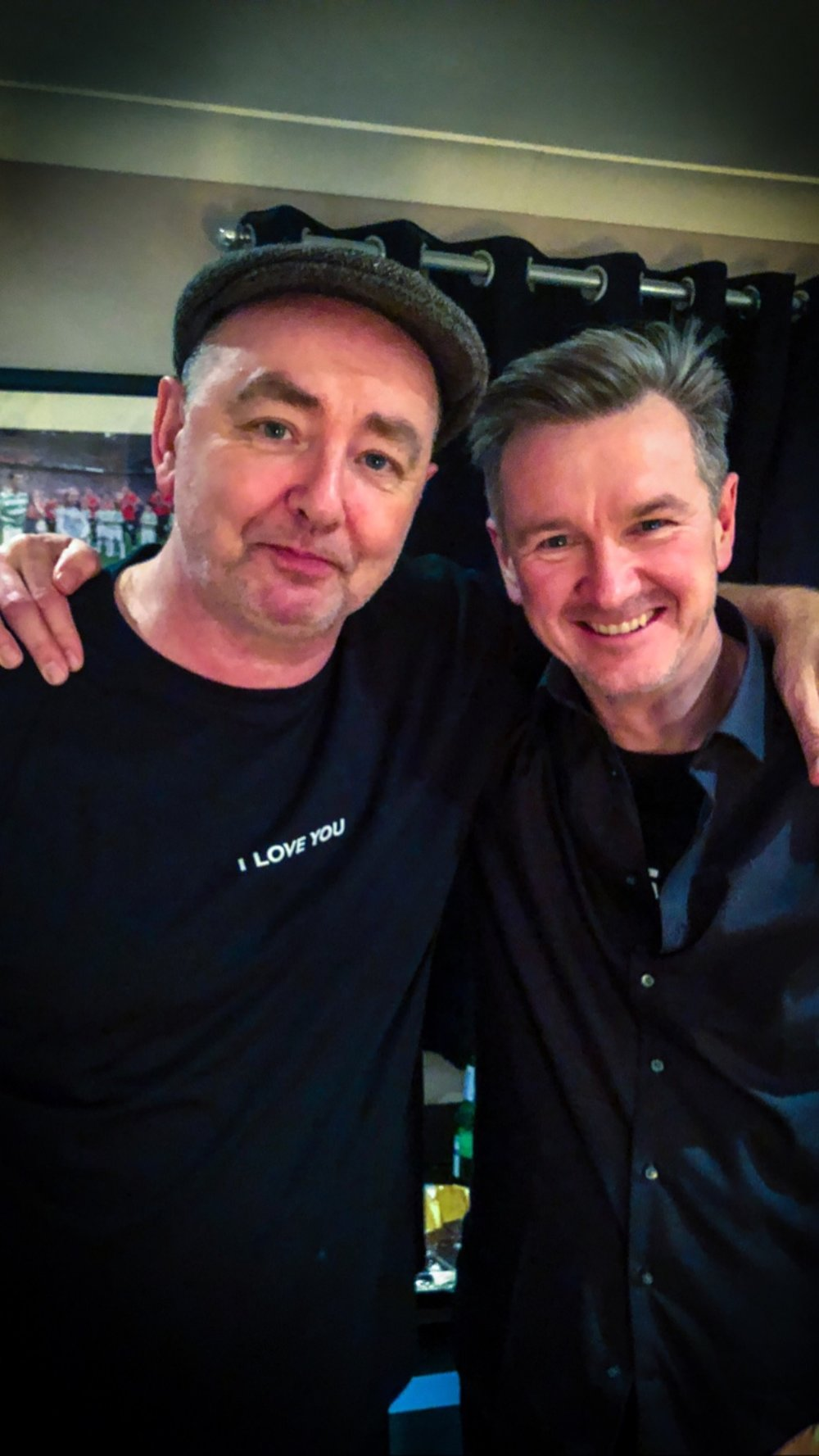 With Francis Dunnery