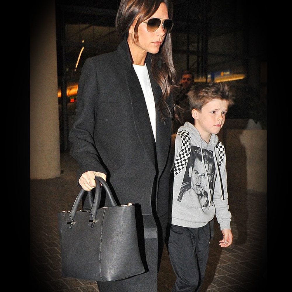 Cruz Beckham Spotted at the airport wearing Little Eleven Paris Johnny Depp hoodie