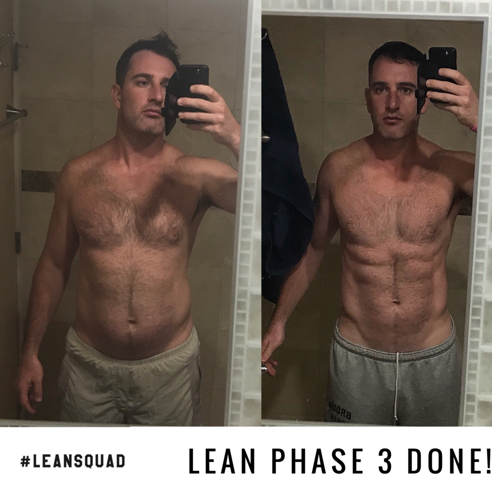"Squadie @danimaux - ""Huge thanks to PMack and @leansquad for pushing me and keeping me as much on track as possible... I know I didn't make it easy on him. For someone who travels a lot, this program was perfect for me, and gave me great results. Can't wait to do it again in Jan. Thanks Coach Phil!!"""