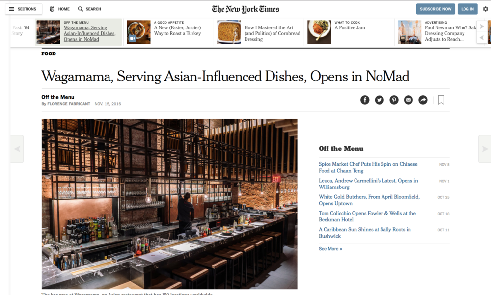 The New York Times - Off The Menu