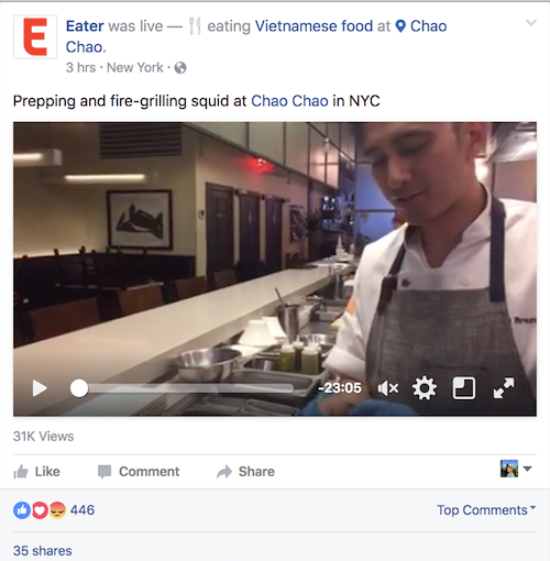 Eater - Facebook Live Grilled Squid