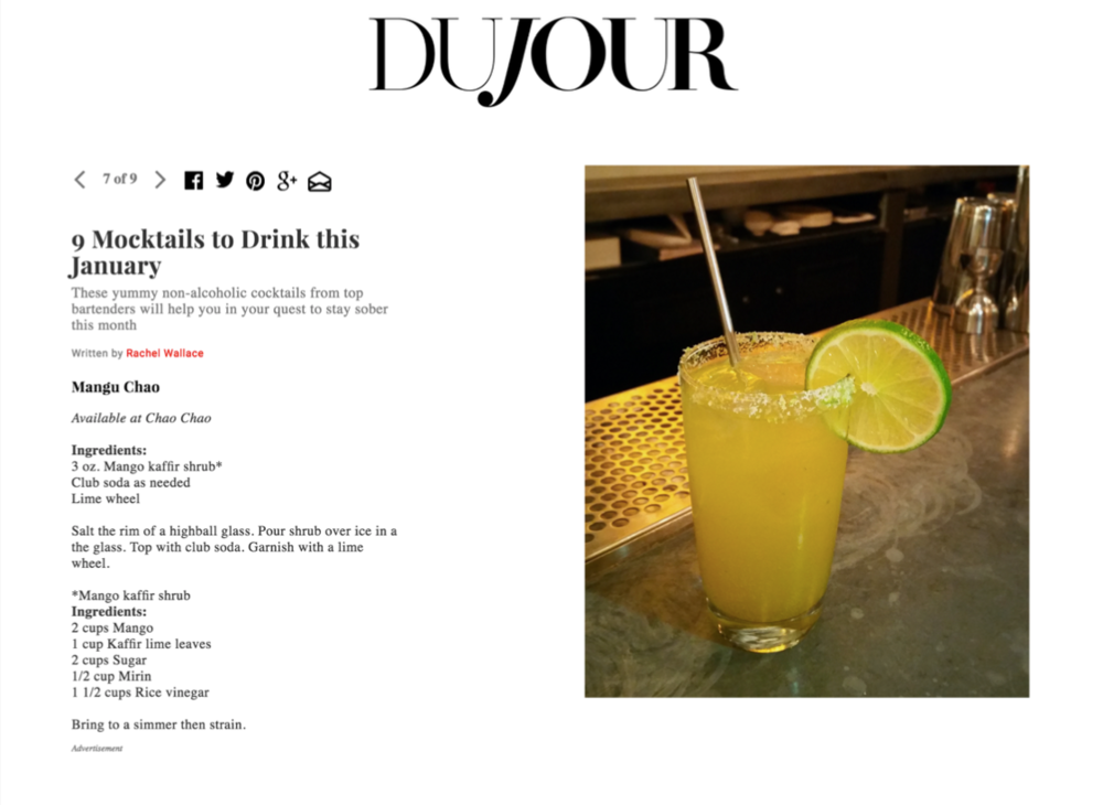 DuJour - 9 Mocktails to Drink This January