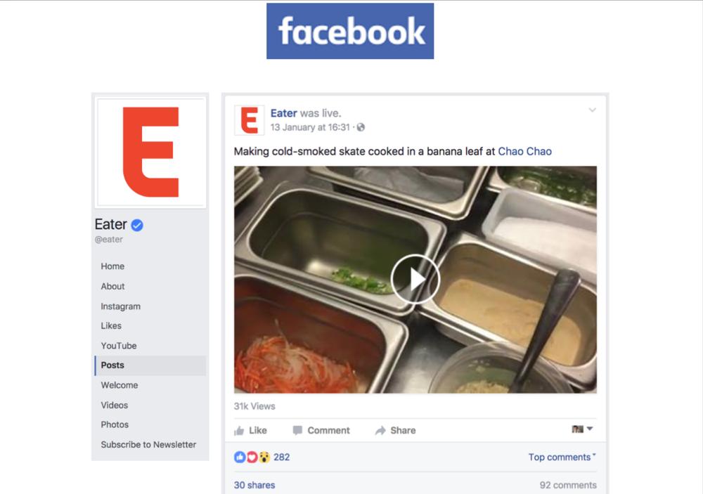 Eater - Facebook Live Grilled Skate