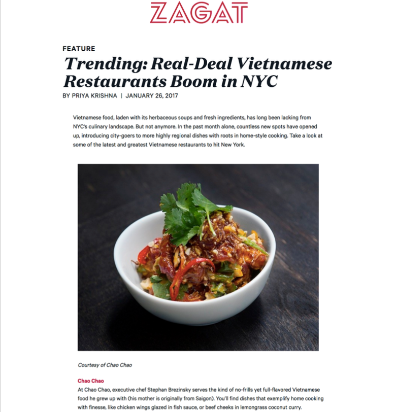 Zagat - Real-Deal Vietnamese Restaurants Boom