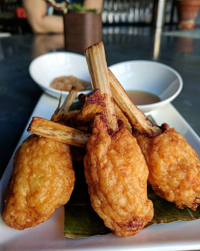 Shrimps balls on sugar cane sticks ✌️ They make the best snack... Don't forget to chew the sticks!
