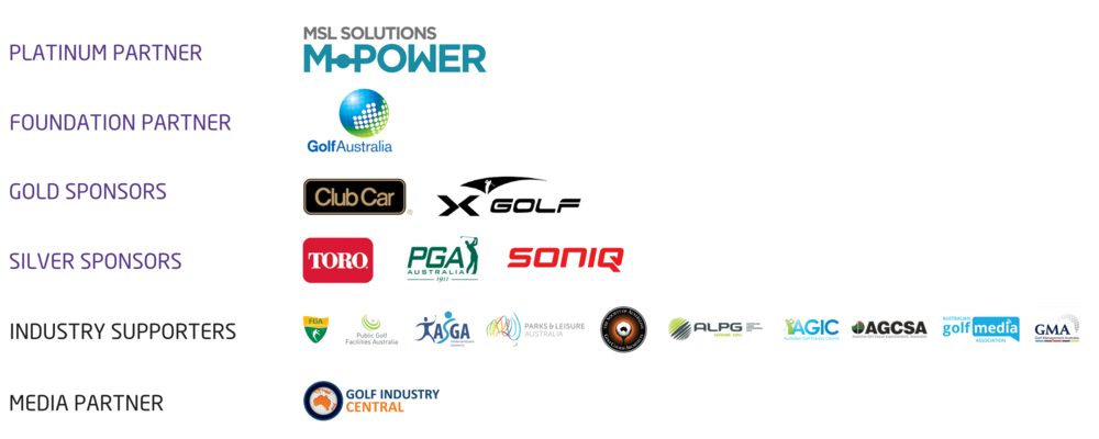 2018 GOLF BUSINESS FORUM SPONSORS