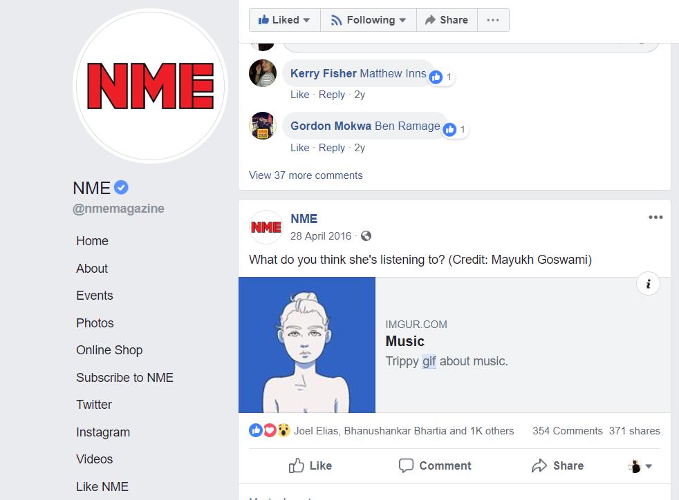 This damn gif got shared by NME magazine, EDM.com etc.