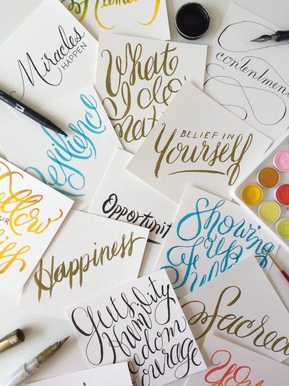 HANDLETTERING - brush lettering • pointed pen calligraphy