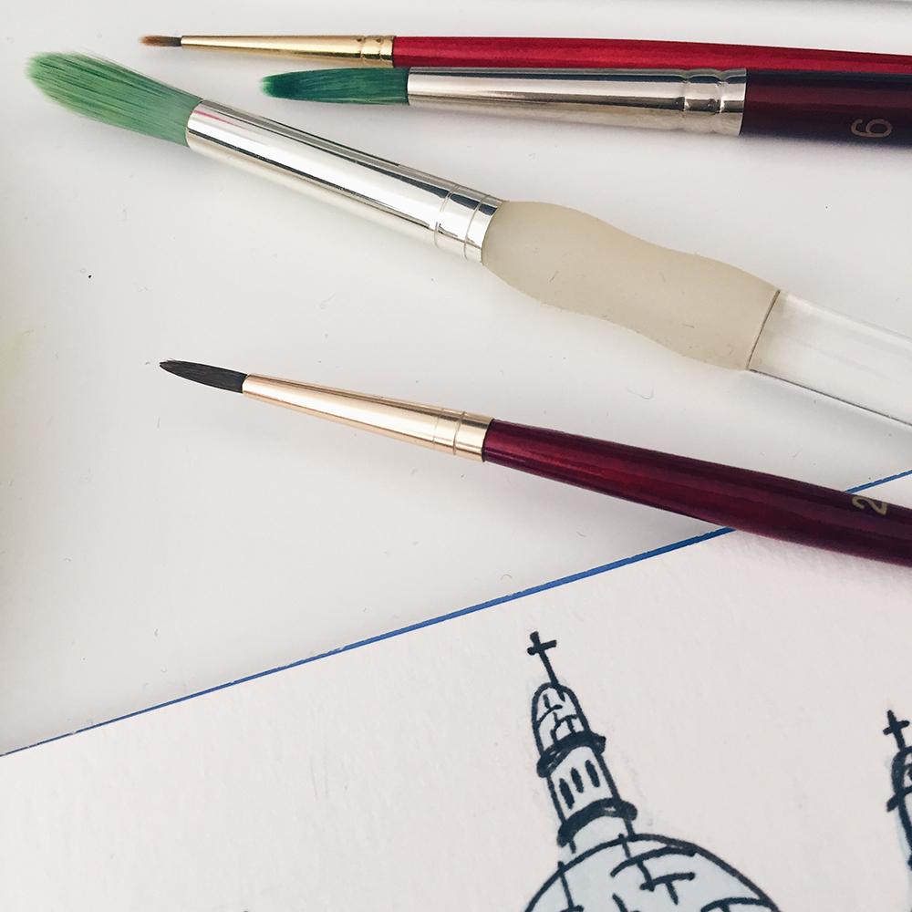 Parisian Scenes—Watercolor Explorations // Curiosities Allowed // Creative blog of Lizelly Meza