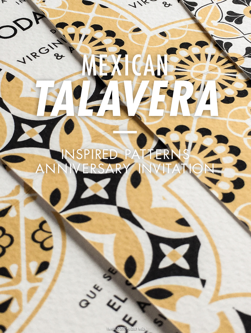 Mexican Talavera Tile-inspired Patterns for a 50th Anniversary Invitation // Curiosities Allowed // Creative blog of Lizelly Meza