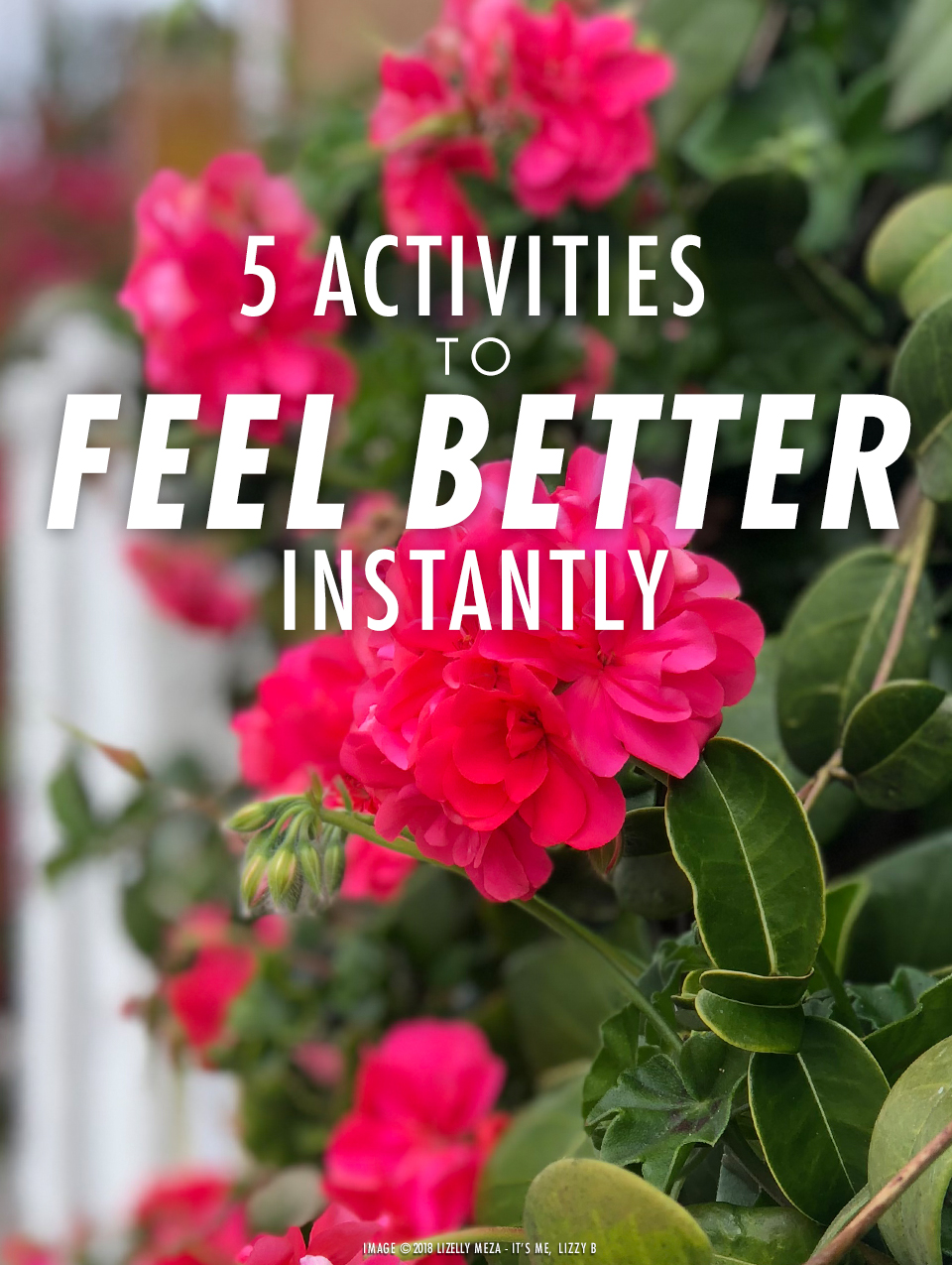 5 Activities to Feel Better Instantly// It's Me, Lizzy B - Musings on Life, Business, & The Pursuit of Curiosity // Personal blog of Lizelly Meza