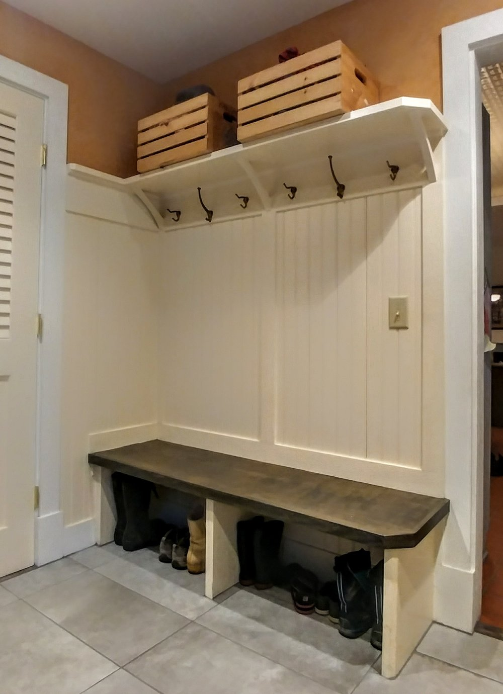 New Mudroom, old house