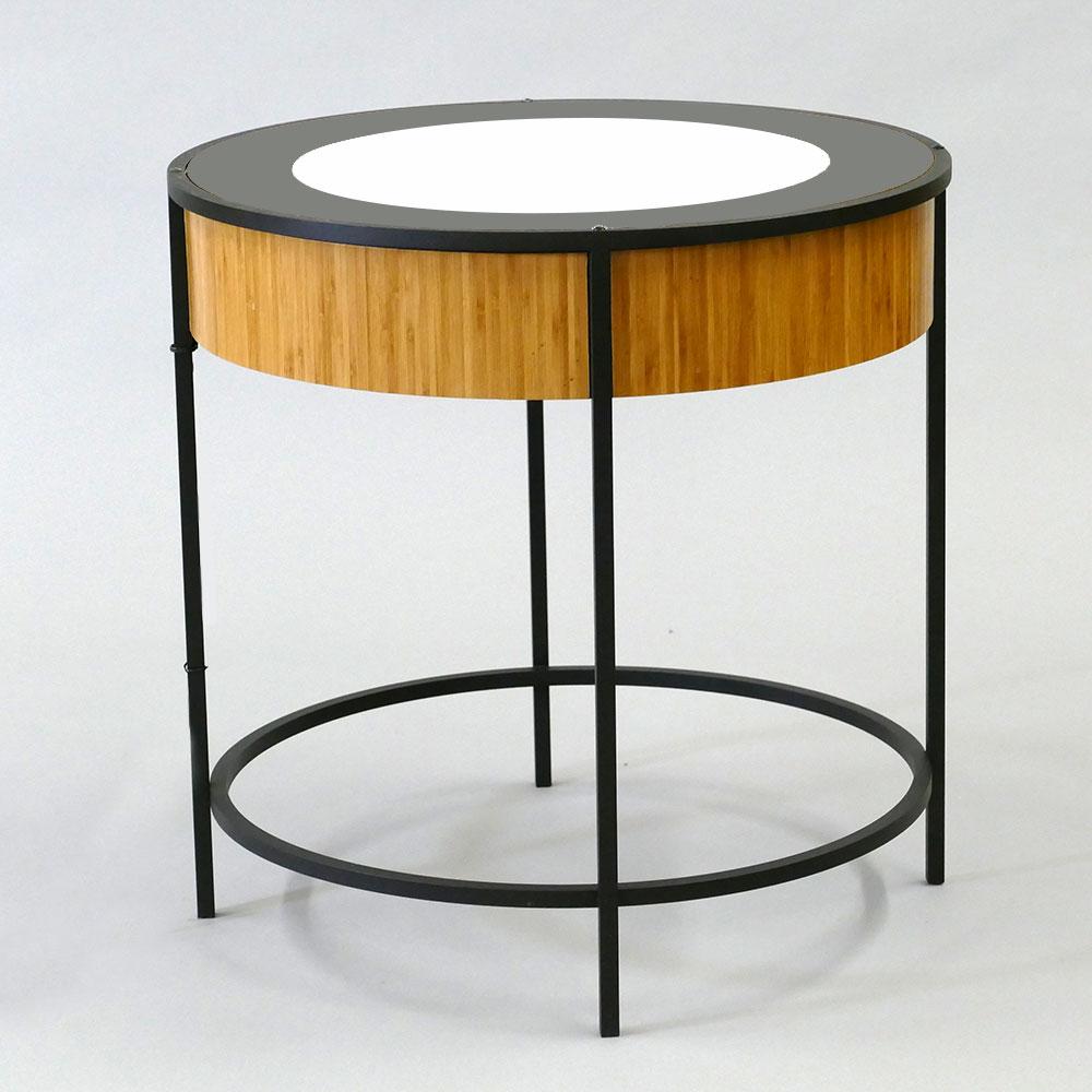 Caramel Bamboo Veneer / Black Ring