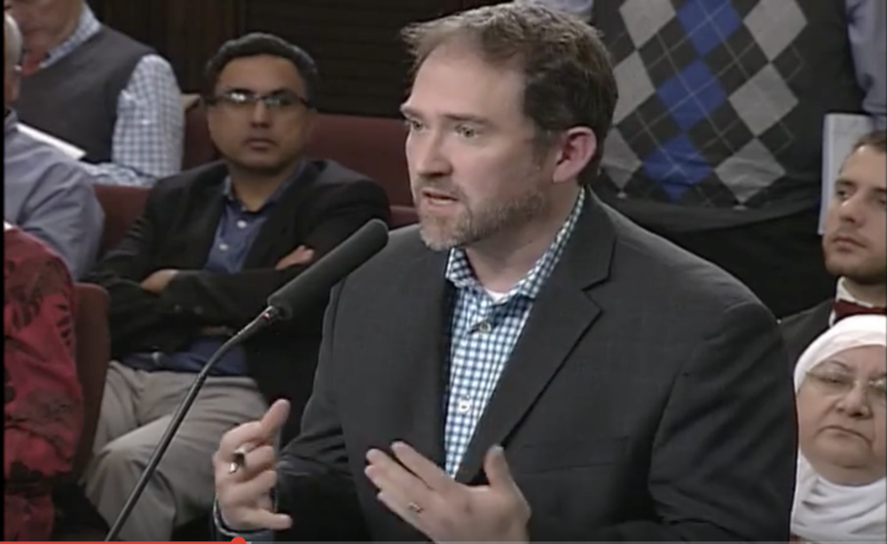 Jim McNulty testifying before Gaithersburg City Council (YouTube/City of Gaithersburg)