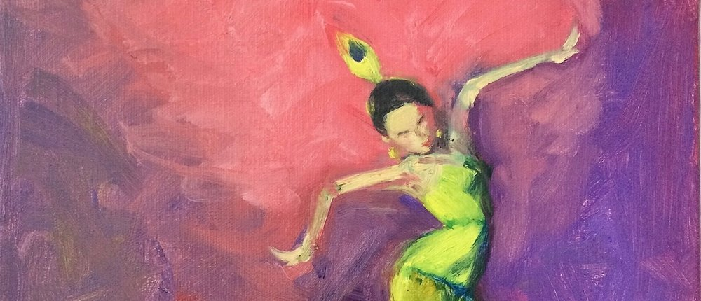 """""""Life is a Dance (Movement)"""", oil on Canvas, by Lucy Chen"""