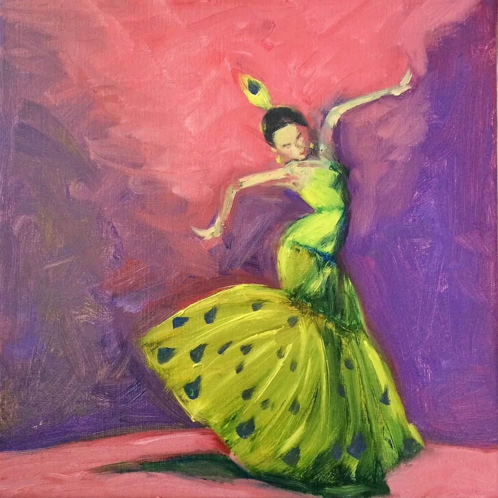 """Life is a Dance (Movement)"", oil on Canvas, by Lucy Chen"