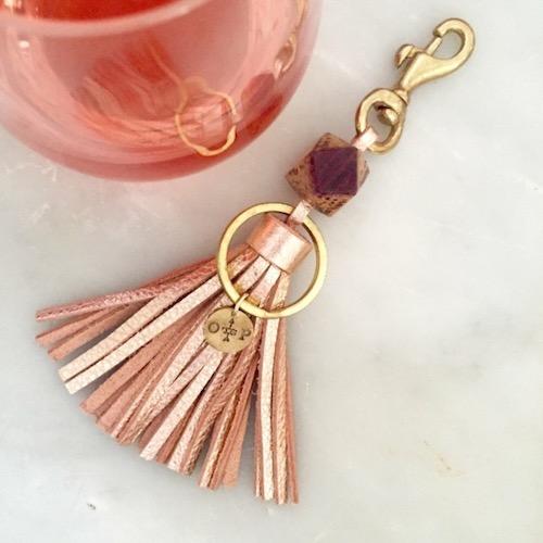 Rosé Keychain