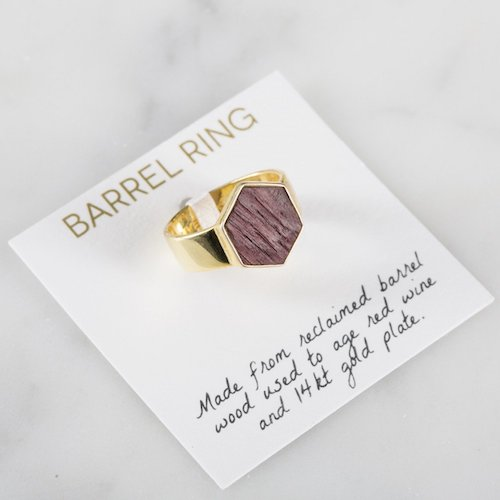 Olive & Poppy Wine Barrel Ring