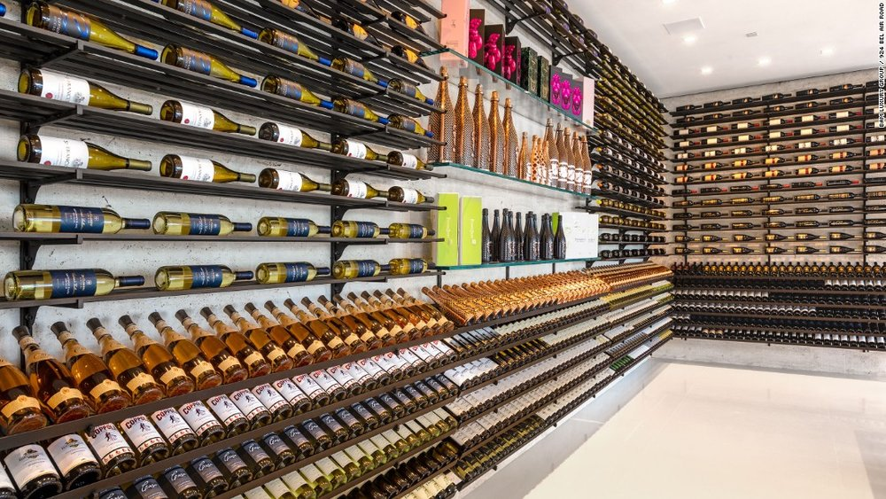 The insane wine cellar in the most expensive home in America. #goals