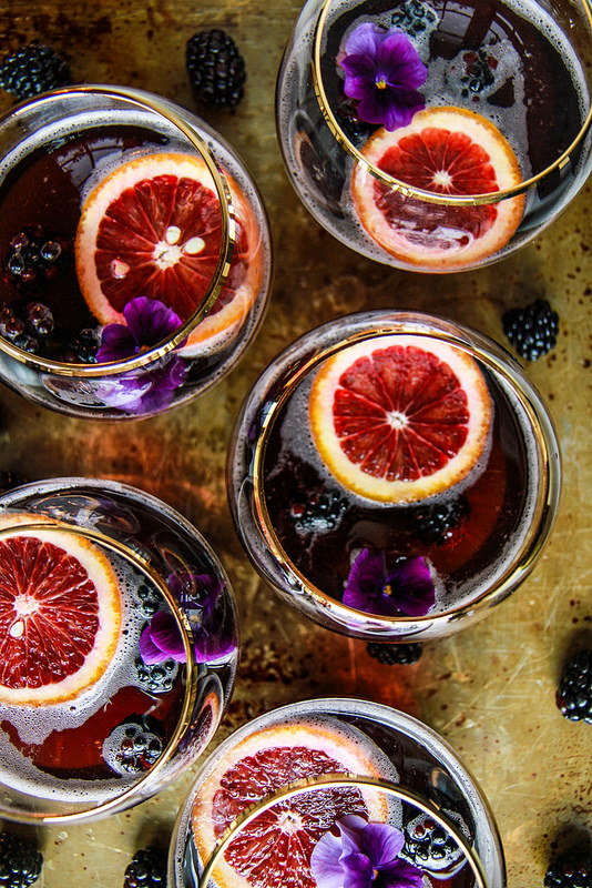 Blood Orange Blackberry Rum Punch