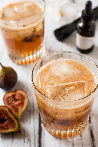 Fig Maple Bourbon Fizz