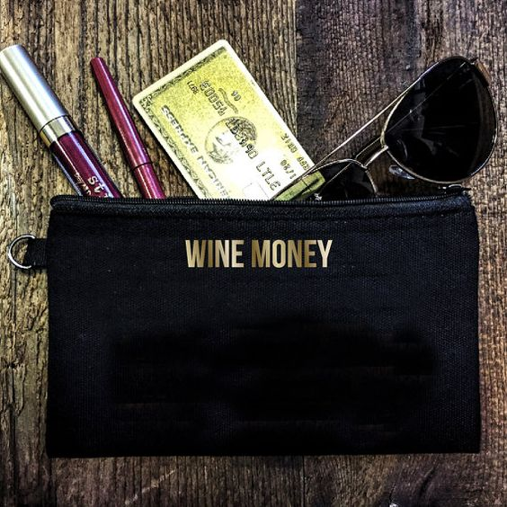 'Wine Money' Pouch, $8.40 @ Everfitte