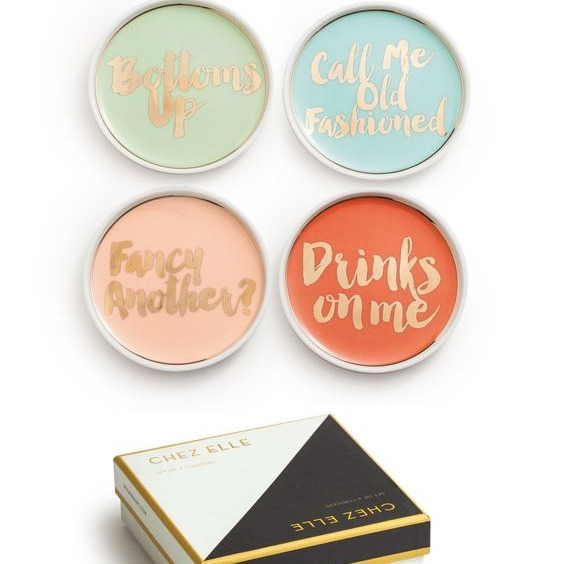 Cocktail Party Coasters, $42/set of 4 @ Lulu & Georgia