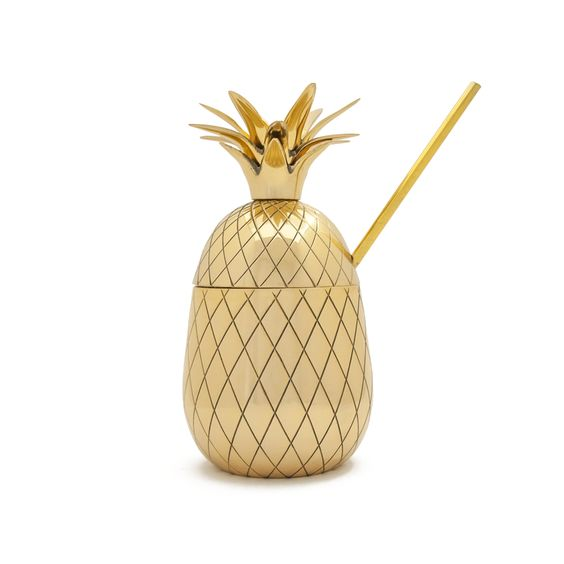 Gold Pineapple Tumbler, $99 @ AHA