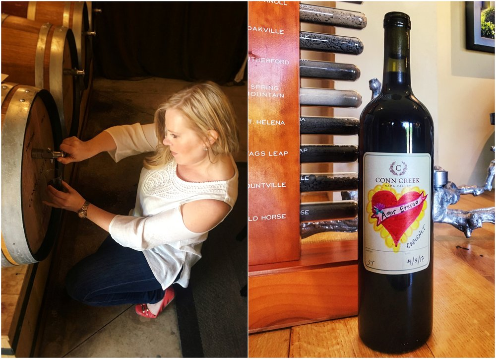 Conn Creek Winery in Napa offers a Barrel Blending Experience, blend your own wine at Conn Creek, sommelier Sarah Tracey of The Lush Life blending wine