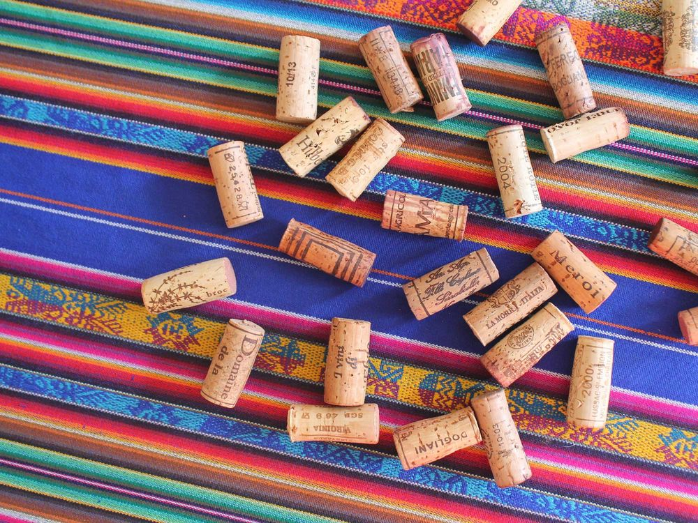Natural wine corks are a sustainable way to close a bottle of wine