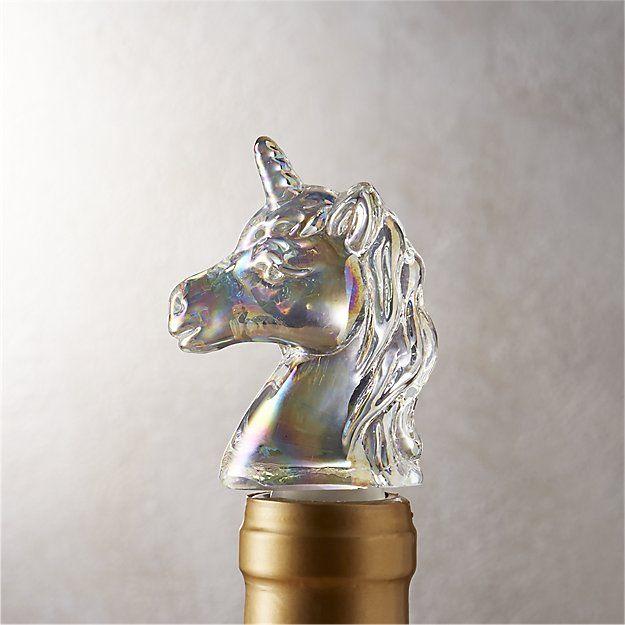 Unicorn Iridescent Bottle Stopper, $9.95 @ CB2