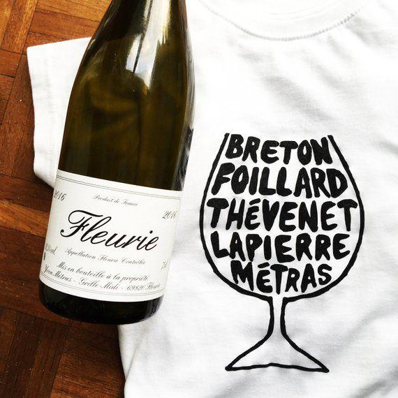 Beaujolais Gamay Wine Glass T-shirt, $26 @ Etsy
