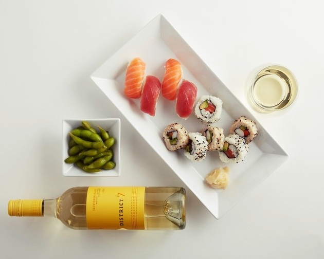 Sauvignon Blanc is the best wine pairing or Sushi