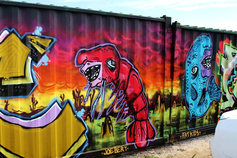 RiceMillCrawfish-8.5'x10'.Aerosol on Storage Container.2012.FatKids.jpg