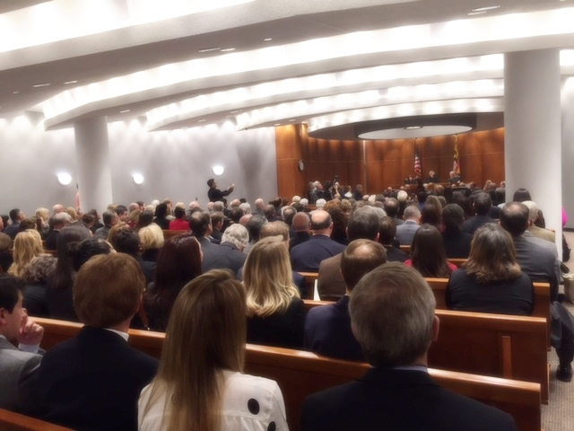 The investiture ceremony was held at the Circuit Court for Montgomery County on November 15, 2016.
