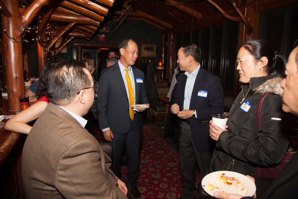 APABA MD Members: Judge Eric Nee, Judge Theo Chuang, Anne Glover, and others enjoying holiday good cheer.