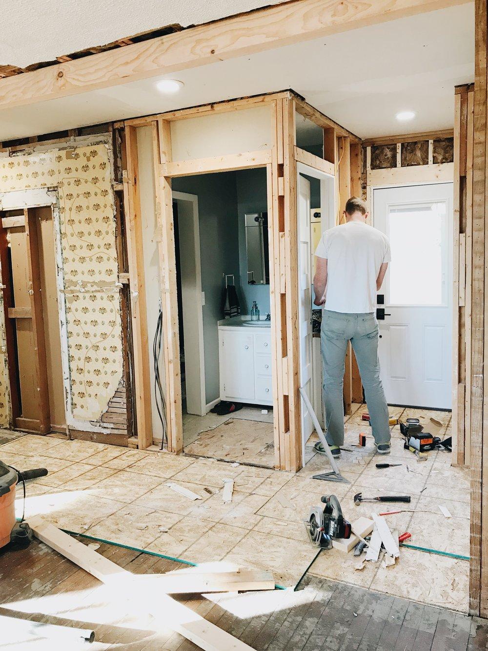 Our first flip house - demo has begun