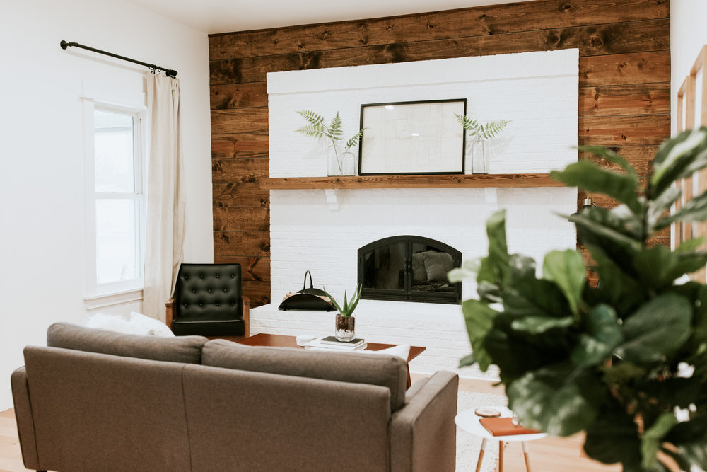 Living Room Reveal - Sharing sources for the mid century, modern, industrial, and farmhouse style products we used