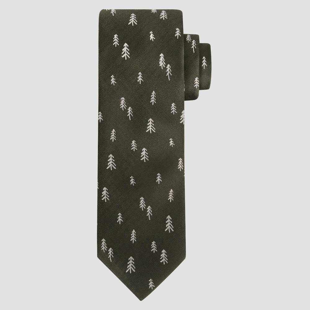 Green Cedar Tree Tie