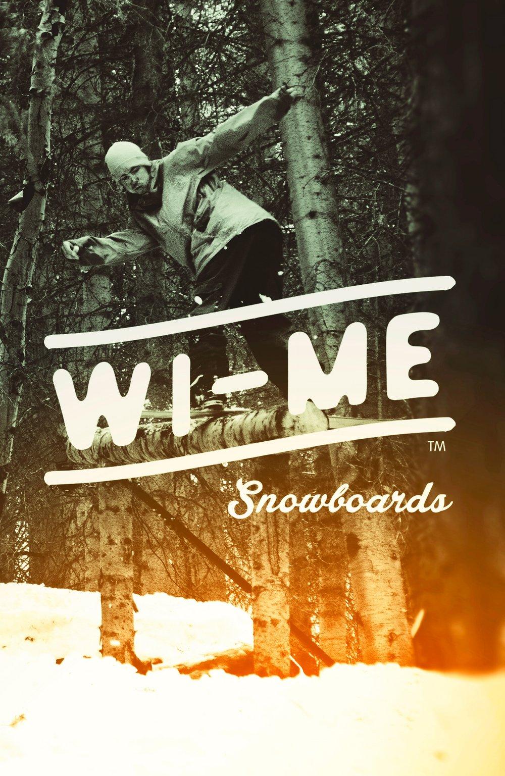 Wi-Me Snowboards:  Identity, Web, Exhibits, Brand Strategy